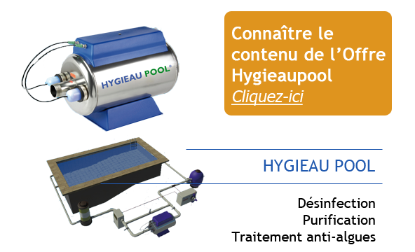 Hygieau Pool Combinaison de 2 solutions High-Tech éprouvées