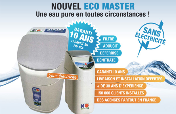 Le nouvel Eco Master, une eau pure en toute circonstance